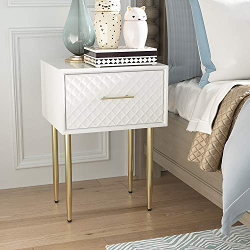 COZAYH Full-Assembled Large Drawer Nightstand Side Table, Clean-Lined Modern Style