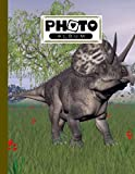 Photo Album: Large Photo Albums with Writing Space Memo, Extra Large Capacity Picture Album | Premium Zuniceratops Dinosaurs Cover by Axel Blank