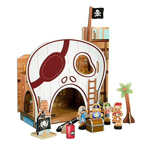 Teamson Kids - Jeux de table de pirates