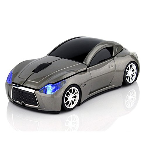 USB Wireless Mouse Sports Car Mouse Computer Optical Mice with LED flash light