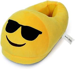 Desire Deluxe Zapatillas Casa Invierno con Figura de Emojis en Forma de Gafas para Sol Sonriente - Pantunflas Invierno de ...