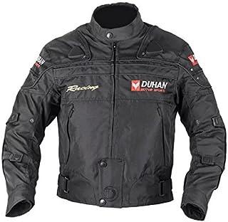 DUHAN(ドゥーハン) バイクジャケット プロテクター付 ライディングジャケット L 黒 オールシーズン 春夏秋冬用 905402