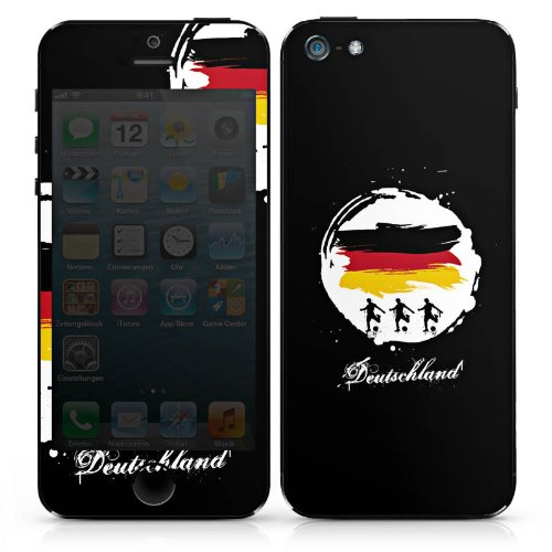 Apple iPhone 5 Folie Skin Sticker aus Vinyl-Folie Aufkleber Fussball Deutschland Football