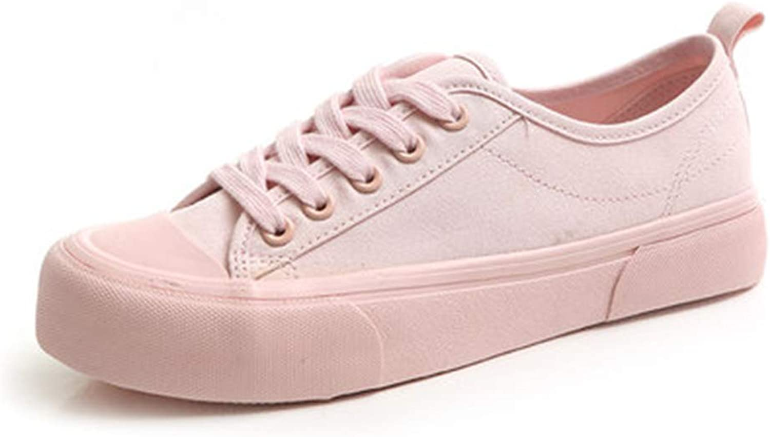 Women shoes Autumn Candy color Lace Up Solid color All Match shoes De women 2019 Canvas shoes 35-39