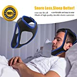 GFTSTORE Chin Strap Anti Snoring Chin Strap, Adjustable Stop Snoring Strap for Men and Women-Black