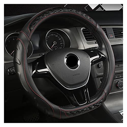 Xinhen Cubierta de Volante de Coche Universal de 15 Pulgadas, Tapa de Carro de Cuero de PU de PU para Nissan Qashqai J11 Nissan X-Trail T32 Golf 7 Tiguan 2019 2020 Kia Optima K5 2021