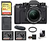 Fujifilm X-T3 Mirrorless Digital Camera with XF 18-55mm f/2.8-4 R LM OIS Lens (Black) Bundle, Includes: SanDisk 64GB Extreme SDXC Memory Card, Spare Fujifilm NP-W126S Battery + More