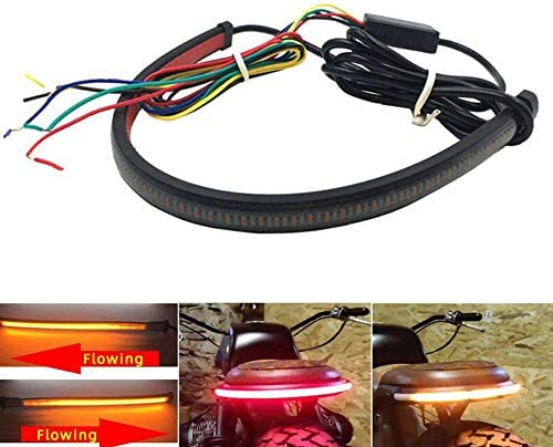 Universal Motorcycle Flexible LED Light Strip with Tail Brake Stop Turn Signal Lights Motorcycle product image