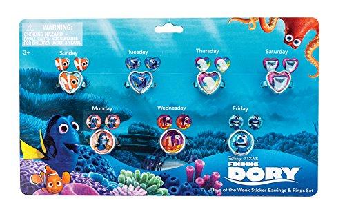 Joy Toy Disney alla Ricerca di Dory orecchini sticker e anelli per Bambini, Multicolore, 41092