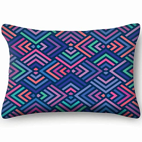 Sdltkhy Fundas de Almohada Decorativas Color geométrico Abstracto Funda de cojín 20 x 30 Pulgadas 51 x 76 cm