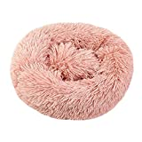 BRISEZZ Round Dog Bed For Dogs And Cats Warm Winter Recliner Cushion Pup Dog Kennel Plush Pet Bed 120Cm Diameter HRTT