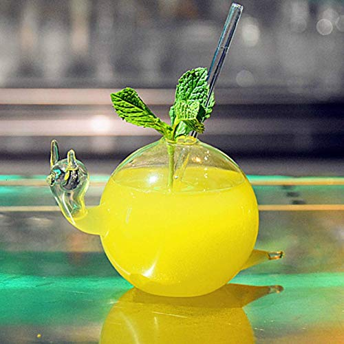 WANZSC Schnecken-Cocktailglas, kreativer Saft, Agave, Rotwein, großes Fassungsvermögen, transparent, Molekül, Ruß, Originalität, Tasse (200 ml)