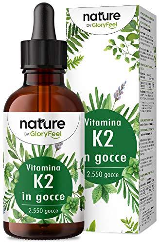 Vitamina K2 MK7 in Gocce, 75 ML, Alto Dosaggio 200 mcg per 10 Gocce, Supporto per Cartilagine & Ossa, Vitamina K2 MK-7 Menachinone Contenuto 99,97% All-Trans - Premium Gnosis Vit MK7