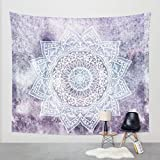 Shukqueen Purple Tie Dye Ombre Bohemian Tapestry Mandala Tapestry Tapestry Wall Hanging Boho Tapestry Hippie Hippy Tapestry Beach Coverlet Curtain
