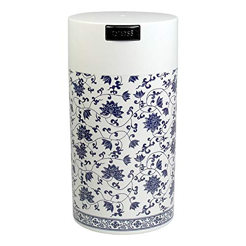 Tightvac – 3 a 12 oz contenedor de Almacenamiento Sellado al aspiradora, Color Blanco Floral