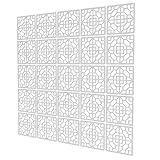 Biombos De Oficina de 25 Piezas - 197x197cm - Blanco para Separar Ambientes Cuadrado Geométrico Separadores Ambientes Biombo para Cocina, Despensa, Escritorio, Estantería, Armario
