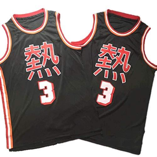 YSA Camiseta de Baloncesto Dwyane Wade 3# para Hombre, versión China de Uniformes de Baloncesto, Camiseta sin Mangas Neutral, Ropa Deportiva NCAA Swingman de la NBA, S -XXL
