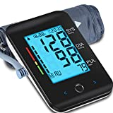 ALPHAGOMED Blood Pressure Monitor for Home use-Automatic Upper Arm Blood Pressure Monitor Digital Blood Pressure Cuff with 9-17 in Large Cuff Touch Key Backlit Screen 2 User Mode 180 Set Memories