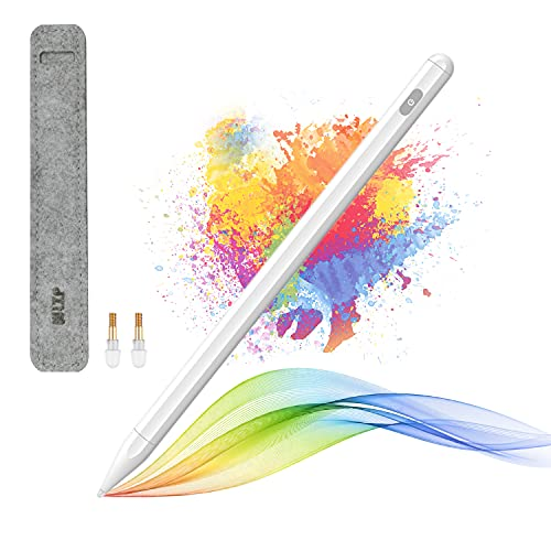 WLZP Penna per iPad Ricaricabile con Design Magnetico, Penna Stilo con rifiuto del Palmo e Sensibilità all inclinazione per(Apple iPad 2018-2020), iPad PRO iPad iPad Mini iPad Air