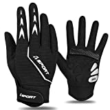 Yobenki Cycling Gloves Bike Motorcycle: Bicycle Gloves for Men Women Shock-Absorbing Padded Mountain Biking Gloves with Touch Screen Full Finger Bicycle Goves for Riding - Antiskid Breathable