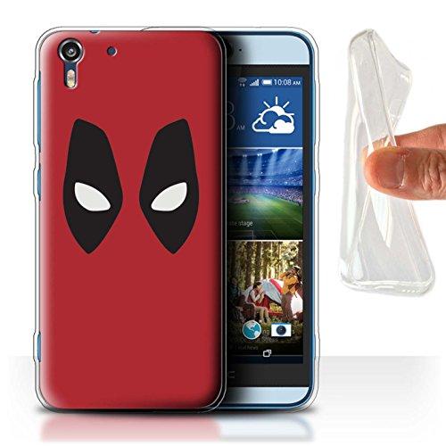 Hülle Für HTC Desire Eye LTE Superheld Comic-Kunst Deadpool Maske Inspiriert Design Transparent Dünn Flexibel Silikon Gel/TPU Schutz Handyhülle Case
