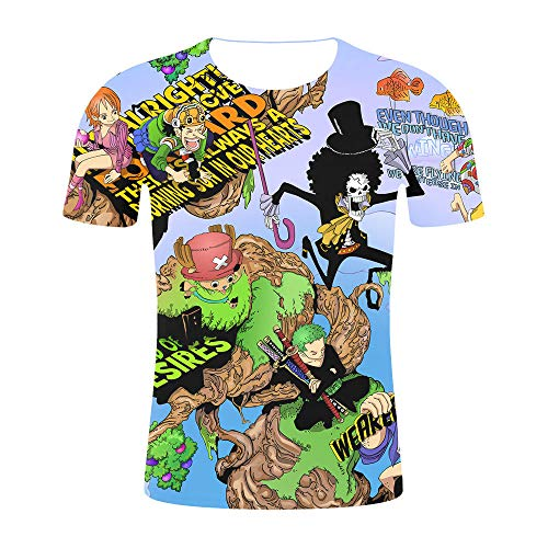 Herren Kurzarm T-Shirt Ruffy3D gedruckt inspiriert Comic Teenager Anime T-Shirt-D_4XL