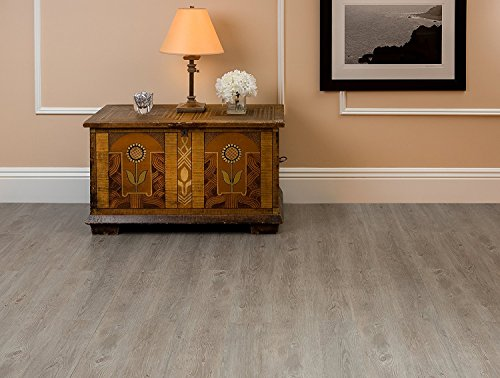 Achim Home Furnishings VFP1.2GO60 Achim Home Imports Nexus Light Grey Oak 6x36 Self Adhesive Vinyl Floor Planks Planks/90 Sq Ft, 60 Pack, 60 Count