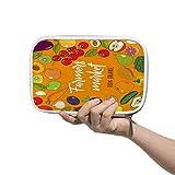 Chehong Große Kapazität Federmäppchen Tasche Halter Schreibwaren Tasche Makeup Tasche Bauern Markt Illustration mit handgezeichneten Obst und Gemüse Reisepass Tasche Große Aufbewahrung