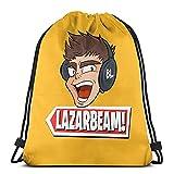 LazarBeam - Mochila deportiva con cordón, para hombre y mujer, ligera, grande, portátil, resistente y duradera, mochila de almacenamiento para la compra