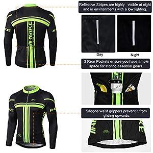 INBIKE Maillot Ciclismo Invierno Hombre 3D Acolchado Gel Ropa Térmica Ciclismo Camiseta Bicicleta+Culote Ciclismo(M)
