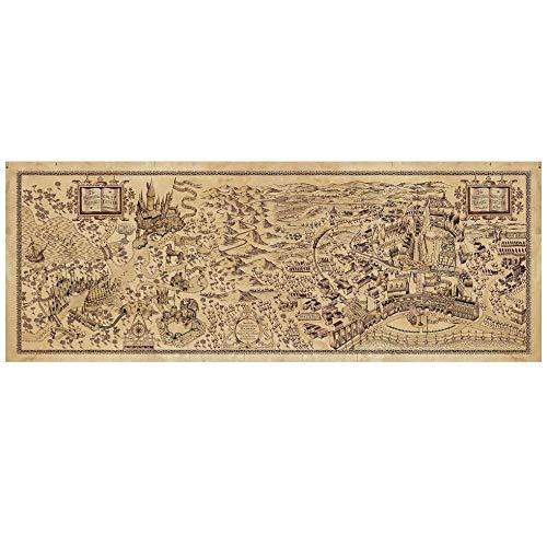 Heng Retro Weltkarte Berühmtes Kraftpapier Vintage View Cafe Bar Pub Wandplakat Dekorative Malerei Aufkleber Briefpapier