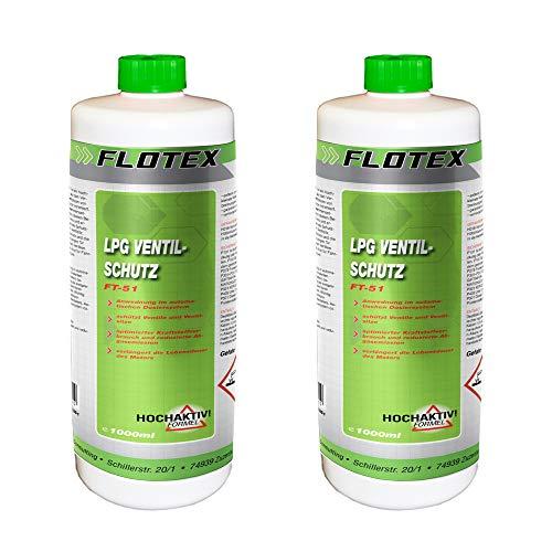 Flotex Permanent LPG Ventilschutz, 2 x 1L Additiv Gas Ventil Schutz