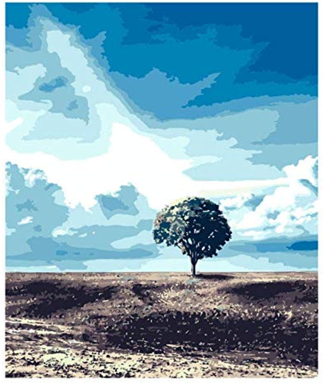 mejor servicio UPUPUPUP DIY Pintura al óleo por por por los números Kit Paisaje, árbol Solitario, Pintura por números, Tworidc5-50X70Cm sin Marco  comprar ahora