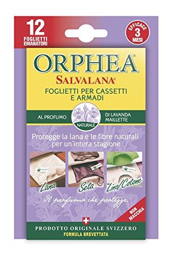 Orphea Salvalana, Foglietti per Cassetti e Armadi, Protegge Lana e Vestiti Tutta...