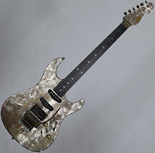 ESP Exhibition Limited Snapper-CTM FR Sand-Blast Maziora Gold Leaf Electric Guitar