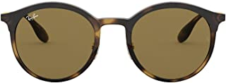Ray-Ban Sunglasses For Unisex, Brown, 4277, Round Frame