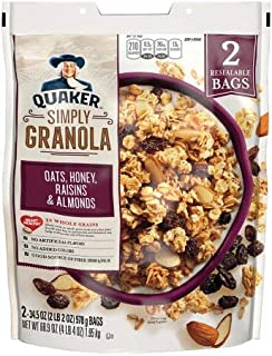 Quaker Simply Granola Oats, Honey, Raisins and Almonds, (2 pk./34.5 oz.) x2 AS