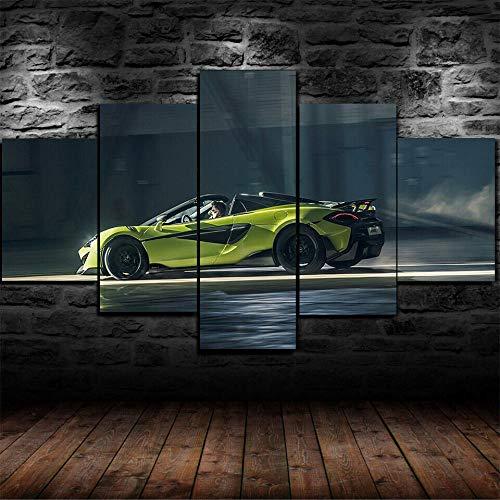 45Tdfc 5 Piezas McLar 600LT Spider Car Fondo Pintura de la Pared La impresión de la Imagen en la Lona Art Fotos de la Obra para la Decoración Moderna del Ministerio del Interior