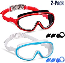 Yizerel 2 Pack Kids Swim Goggles, Swimming Glasses for Children and Early Teens from 3 to 15 Years Old, Wide Vision, Anti-Fog, Waterproof, UV Protection