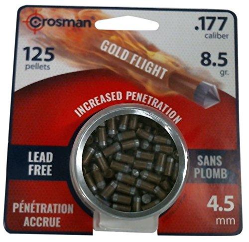 Crosman LF1785 .177-Caliber Lead-Free PowerShot Gold Flight Penetrator Pointed Pellets (125-Count)