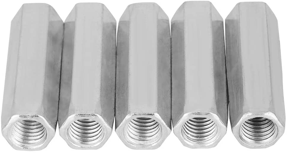 5pcs Long Rod Nuts Carbon Ranking TOP8 Hexagonal Hex Sle Coupling Steel Luxury