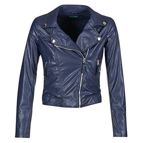 Benetton Ferdoni Jacken Damen Marine - S - Lederjacken/Kunstlederjacken Outerwear