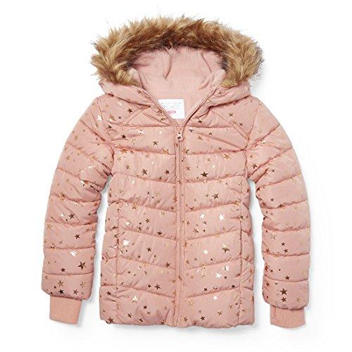 The Children's Place Big Girls' Puffer Jacket, Cherry ice 86928, M (7/8)
