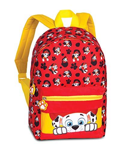 Paw Patrol Mochila de guardería – Mochila infantil para niños de 3 a 6 años con Marshall de La Patrulla Canina, 36 cm x 24 cm x 12 cm, 6 l, color rojo