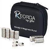 Reorda - Magneti al neodimio con massima forza magnetica - Set di magneti di alta qualità composti da 60 magneti super resistenti 10x2mm - Set di magneti al neodimio - utilizzo versatile