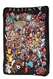 Chibi Characters Fleece Throw Blanket | 45 x 60| Destiny Collector's Edition