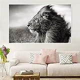Sadhaf lienzo abstracto animal decoración del hogar arte de la pared mane prairie lion living room mural poster a6 70x100cm
