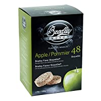 Bradley Smoker 220221-SSI Apple Bisquettes (Pack of 48), Multi-Coloured