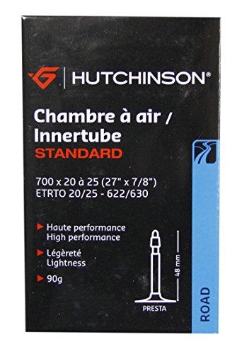 HUTCHINSON Cv656621 Cámara 700x20-25 Presta válvula 48 mm, Unisex Adulto, Negro, 700 x 20 a 25