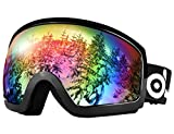 Odoland Ski Goggles - OTG Ski/Snowboard Goggles for Men,...